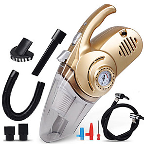 cheap Car Pendants & Ornaments-4 in 1 Multi Function Car Vacuum Cleaner with Digital Display Portable Car Dual Use Car Auto Inflatable Pump Air Compressor