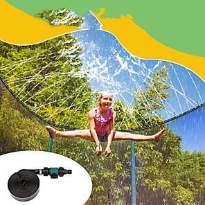 hesapli Şişme Botlar ve Havuz Şezlongları-Trambolin Yağmurlama Sistemi Trambolin Spreyi Yağmurlama Oyunu Oyuncakları Su Oyuncakları Trambolin Aksesuarları Komik Yaz Spor ve Outdoor Su parkı Erkek ve kızlar