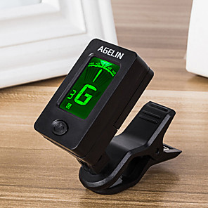 cheap Instrument Accessories-Ammoon AT-08 Mini Digital LCD Clip-on Tuner for Acoustic Electric Guitar Bass Violin Ukulele Chromatic