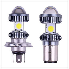 cheap Motorcycle Lighting-1PC NEW auto BA20D led Canbus H4 Hi Lo beam Motorcycle Headlight 12-96V Motorbike Fog Lamp Moto Lights Electric Car Lights