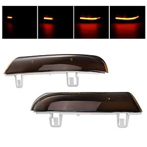 cheap Car Signal Lights-Pair Dynamic LED Turn Signal Light Mirror Indicator Lights Amber for VW Golf 5 Jetta MK5 Passat B6