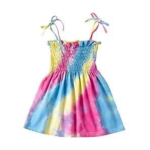 cheap Movie & TV Theme Costumes-Kids Girls' Rainbow Dress Rainbow