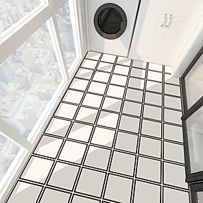 cheap Wall Stickers-PVC Anti-skid Twill Self-adhesive Wall Stickers Thickened Wear-resistant Bathroom Floor Stickers Living Room Tile Floor Stickers