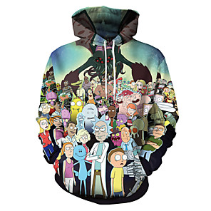 cheap Party Sashes-Inspired by Rick and Morty Cosplay Costume Hoodie Polyster Print Printing Hoodie For Men's / Women's
