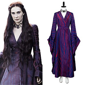 cheap Anime Costumes-Inspired by Game of Thrones Anime Cosplay Costumes Japanese Cosplay Suits Dress Waist Belt Neckwear For Women's