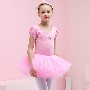 cheap Movie & TV Theme Costumes-Swan Lake Princess Ballet Dancer Dress Tutu Girls' Movie Cosplay Purple / Blue / Pink Dress Christmas Halloween Children's Day Cotton