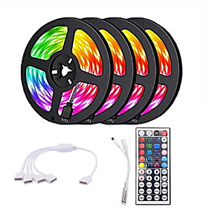 cheap LED Strip Lights-20m Light Sets 1200 LEDs 2835 SMD RGB Cuttable / Linkable / Suitable for Vehicles 100-240 V / Self-adhesive / IP44