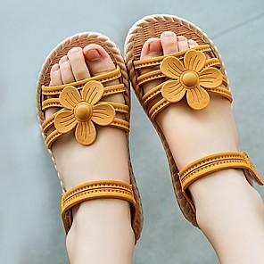 cheap Kids' Sandals-Girls' Sandals Comfort PVC Little Kids(4-7ys) Yellow / Pink / Green Summer