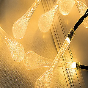 cheap LED String Lights-5m String Lights Outdoor String Lights 20 LEDs Warm White White Christmas New Year's Solar Party Decorative Solar Powered