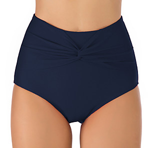 cheap Wetsuits, Diving Suits & Rash Guard Shirts-Women's High Waisted Bikini Bottom Nylon Elastane Bottoms Breathable Quick Dry Swimming Surfing Water Sports Solid Colored Summer / Stretchy
