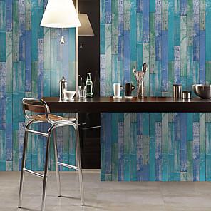 cheap Wall Stickers-Simulation Cedar Wood Floor Diy Self-adhesive Pvc Film Wall Stickers