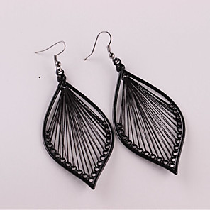 cheap Earrings-Women's Drop Earrings Hollow Out Earrings Jewelry Black For
