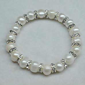 cheap Rings-Women's White Bead Bracelet Beaded Lucky Blessed Fashion Rhinestone Bracelet Jewelry White For Wedding Daily Carnival Promise Festival