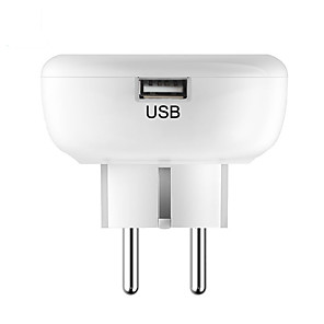 cheap Smart Plug-Home Furnishing Intelligence Socket European Regulations WIFI Wireless Remote Control Timer Socket USB Charging EU Plug