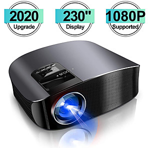 cheap Projectors-2020 Projector YG600 HD Video Projector Beamer Outdoor Movie Projector Home Theater Projector Support 1080P Compatible with TV Stick PS4 HDMI VGA AV and USB