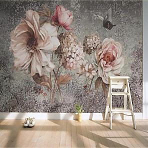 cheap Wallpaper-Custom Self-adhesive Mural Wallpaper Hand-painted Large Flower Background Wall Suitable for Bedroom Living Room Coffee Shop Restauran