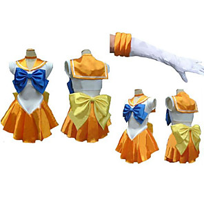 cheap Anime Costumes-Inspired by Sailor Moon Sailor Mars Anime Cosplay Costumes Japanese Cosplay Suits Dress Gloves Neckwear For Women's