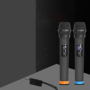 cheap Microphones & Accessories-karaoke dynamic microphone portable singing handheld speaker >60 for conference stage ktv interview home 3 v 5 w 15 v battery powered 2.0 80-15000 hz for studio recording & broadcasting