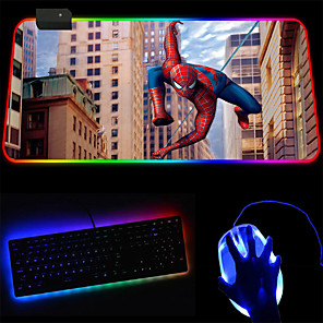 cheap Mouse Pad-Led Marvel Cool Cycle Gradient Rgb Super Luminous Keyboard Mouse Pad 250 * 350 * 4mm