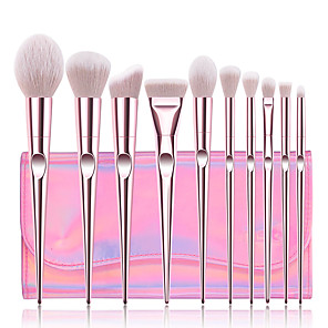 cheap Makeup Brush Sets-Professional Makeup Brushes 10pcs Professional Full Coverage Comfy Artificial Fibre Brush Plastic for Blush Brush Foundation Brush Makeup Brush Eyeshadow Brush