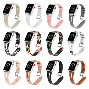 cheap Smartwatch Bands-Watch Band for Apple Watch Series 5/4/3/2/1 Apple Modern Buckle Quilted PU Leather / Genuine Leather Wrist Strap