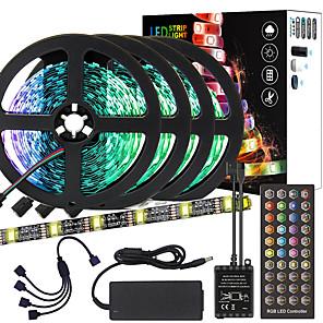 cheap LED Strip Lights-ZDM 20M(4*5M) High-Quality Black PCB Music Timing Synchronous Control Flexible Light Bar 5050 RGB  IR 40 Key Controller with12V 8A Adapter Kit