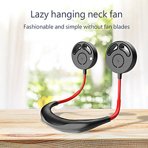 cheap Outdoor Speakers-Portable Lazy Hands-free Neck Fan Band Hands-Free Hanging USB Rechargeable Dual Fan Mini Air Cooler