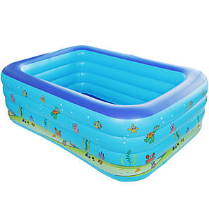 cheap Inflatable Ride-ons & Pool Floats-Ball Pool Kiddie Pool Paddling Pool Inflatable Pool Intex Pool Inflatable Swimming Pool Kids Pool Water Pool for Kids Fun Novelty Silica Gel Plastic Summer Swimming 1 pcs Kid's Adults Kids Adults'