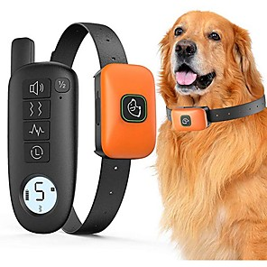 cheap Dog Training & Behavior-Pet Dog Shock Collar With Remote 1000ft Range Electric Collars for Pet Waterproof Dog Training Collar for Small Medium Large Dogs