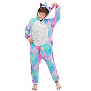 cheap Projectors-Kid's Kigurumi Pajamas Flying Horse Onesie Pajamas Flannelette Blue Cosplay For Men and Women Animal Sleepwear Cartoon Festival / Holiday Costumes