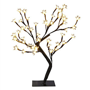 billiga Bordslampor-1x dc5v usb power 24leds bordlampa koppartråd julkörsbärsblommor träd nattljus varm vit bordslampa hem skrivbord hem inomhus dekoration belysning