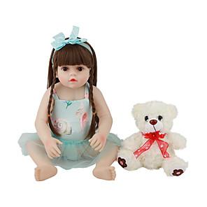 お買い得  リボーンドール-FeelWind 18 インチ リボーンドール 赤ちゃん&幼児用おもちゃ リボーン幼児ドール 赤ちゃん(女) プレゼント キュート かわいい 親子インタラクション チップとシール付きの釘 フルボディシリコーン 服とアクセサリー付き 少女の誕生日やお祭りの贈り物 / ナチュラルスキントーン