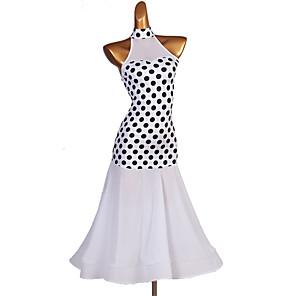cheap Ballroom Dancewear-Ballroom Dance Dress Pattern / Print Split Joint Women's Performance Sleeveless Spandex