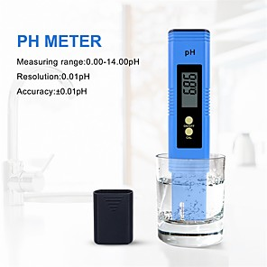 cheap Testers & Detectors-Portable LCD Digital PH Meter Tester Pen Water Quality Purity Monitor Filter Measuring for Aquarium Wine Urine Acidometer