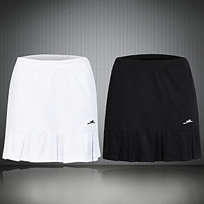 cheap Golf, Tennis & Badminton-Women's Tennis Golf Skirt Butt Lift Quick Dry Breathable Sports Outdoor Spring Summer Solid Color White Black / High Elasticity / High Rise