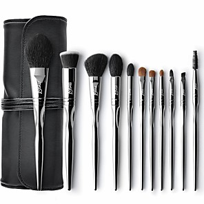 cheap Makeup Brush Sets-Professional Makeup Brushes 11pcs Professional Soft Full Coverage Wooden / Bamboo for Blush Brush Foundation Brush Makeup Brush Lip Brush Lash Brush Eyebrow Brush Eyeshadow Brush