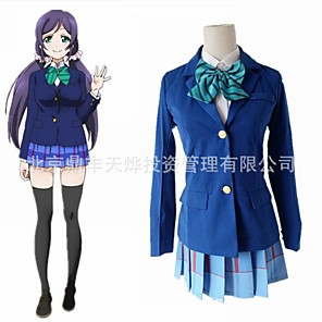 cheap Anime Costumes-Inspired by Love Live Anime Cosplay Costumes Japanese Cosplay Suits Coat Skirt Bow Tie For Women's