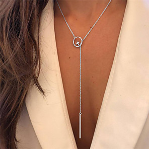 cheap Party Sashes-Women's Necklace Long Necklace Cross Artistic Unique Design European Fashion Chrome Silver 76 cm Necklace Jewelry For Party Evening Masquerade Street Birthday Party Beach