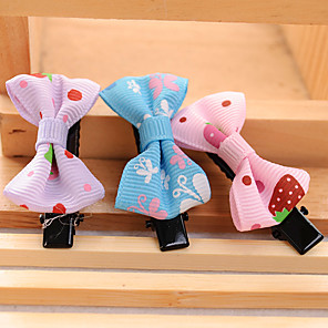 cheap Dog Clothes-Dog Hair Accessories Dog Clothes Bowknot Fabric Costume For Spring &  Fall Summer Women's Casual / Daily