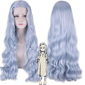 cheap Everyday Cosplay Anime Hoodies & T-Shirts-My Hero Academia Cosplay Wigs Women's Asymmetrical 31 inch Heat Resistant Fiber Curly Blue Adults' Anime Wig