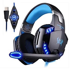 cheap Gaming Headsets-KOTION EACH G2200 Gaming Headphone 7.1 Surround Vibrator Stereo Computer USB Headsets Headphones LED with Microphone for PC