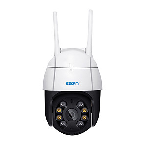 cheap Outdoor IP Network Cameras-ESCAM QF218 1080P Pan/Tilt AI Humanoid Detection Cloud Storage Waterproof WiFi IP Camera with Two Way Audio