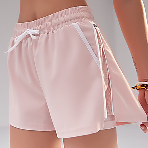 cheap Exercise, Fitness & Yoga Clothing-Women's Running Shorts Shorts 2 in 1 Liner Split Yoga Fitness Gym Workout Running Trail Comfy Breathable Quick Dry Sport White Black Pink Dark Navy Fashion / High Elasticity