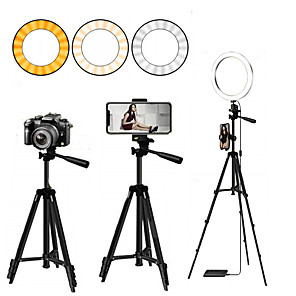cheap Ring light-Selfie Ring Light Led Ring Light Selfie for Youtube Tiktok Phone Holder With Tripod Ring For Photography Lighting Selfie Phone Video