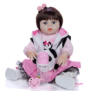 cheap Reborn Doll-KEIUMI 19 inch Reborn Doll Baby & Toddler Toy Reborn Toddler Doll Baby Girl Gift Cute Washable Lovely Parent-Child Interaction Full Body Silicone 19D09-C359-H01-S08 with Clothes and Accessories for