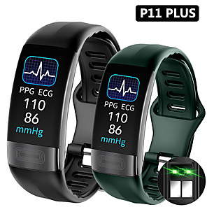 cheap Smartwatches-P11 Smart Band 0.96 ECGPPG Blood Pressure Heart Rate Monitor Activity Fitness Tracker Smart Bracelet For IOS Android