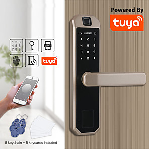 cheap Door Locks-LITBest Zinc Alloy Fingerprint Lock / Intelligent Lock Smart Home Security System Fingerprint unlocking / Password unlocking Household / Home / Apartment Security Door / Copper Door (Unlocking Mode