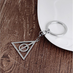 cheap Keychain Favors-Rotatable triangle key chain