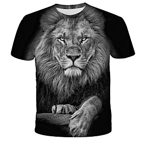 cheap Lamp Bases & Connectors-Men's T-shirt Graphic Print Short Sleeve Tops Streetwear Exaggerated Round Neck Black