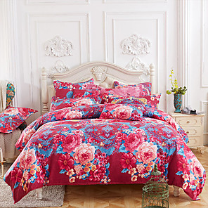 cheap Wall Stickers-4 Pieces Duvet Cover Bedding Set -Ultra Comfy Breathable Zipper Easy Care